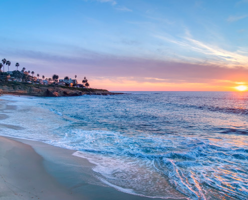 46800096 - magnificent sunset in la jolla california
