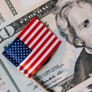 set-of-usa-dollars-and-national-flag-4386396