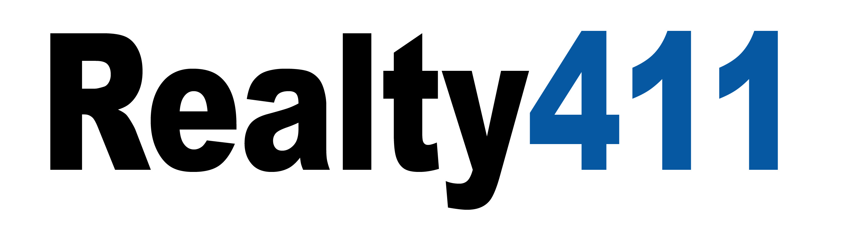 Realty411 blue and black logo